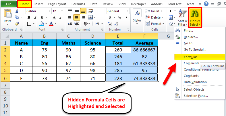 Hide formula in MS-Excel 2-16