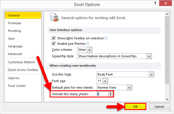 Insert New Worksheet Example 1-4