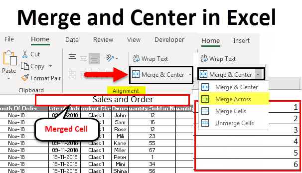 Merge and Center in Excel