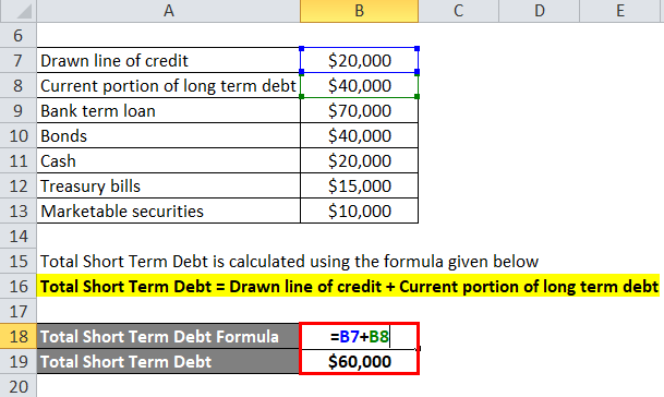 Net Debt Example 1-2