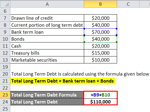Net Debt Example 1-3
