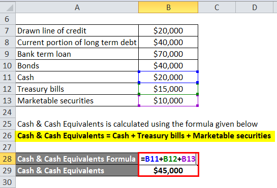 Net Debt Example 1-4