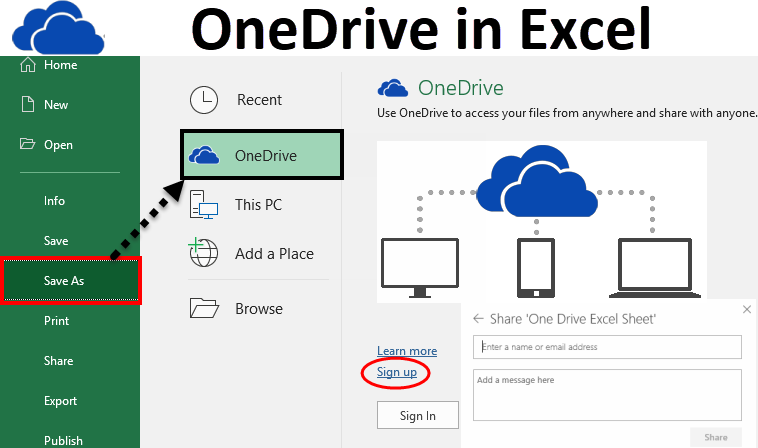 OneDrive in Excel