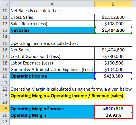 Operating Margin Calculation