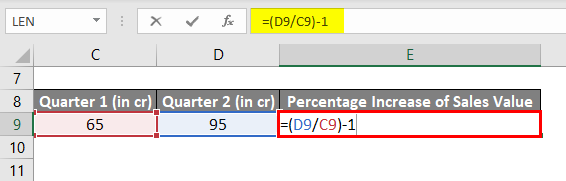 Percentage Increase Example 1-3