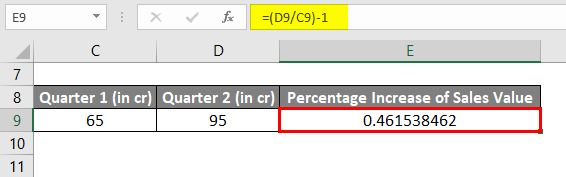 Percentage Increase Example 1-4