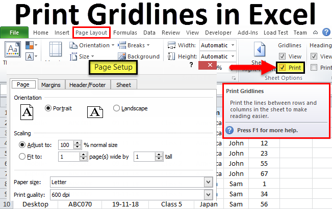Print Gridlines in Excel | How to Print Gridlines in Excel