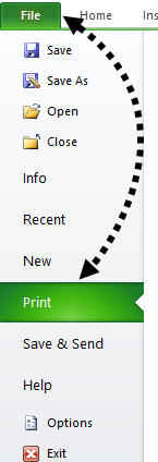 Print in Excel Example 1-1