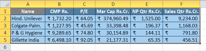 Print in Excel Example 2-1