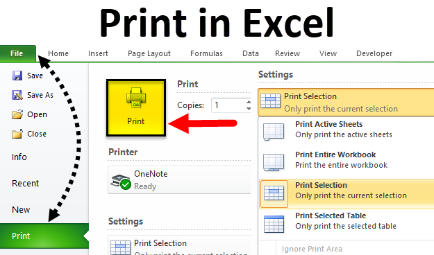 Print in Excel