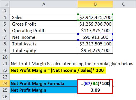 Profitability Ratios Example 2-4