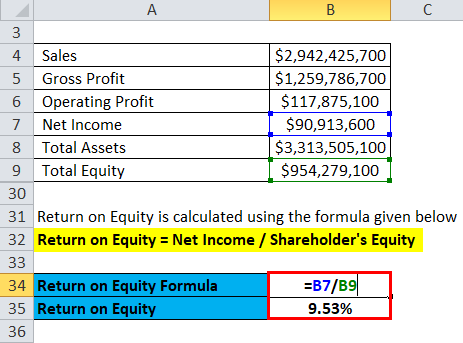 Return on Equity Calculation