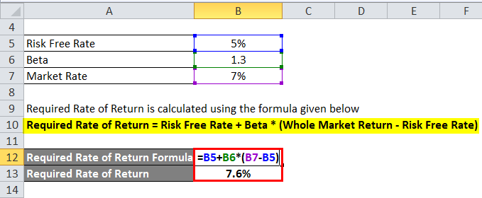 Required Rate of Return Example 1-2