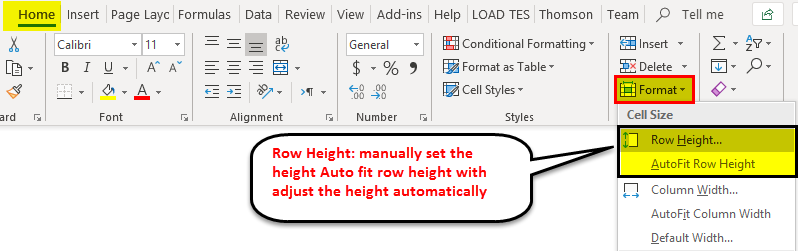 Row Height in Excel 1-1