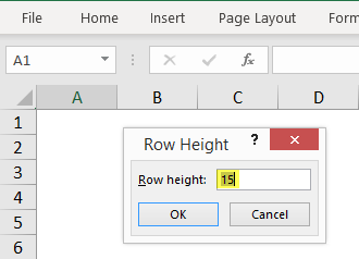 Row Height in Excel