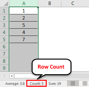 Row count example 1-2