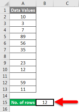 Row count example 3-3