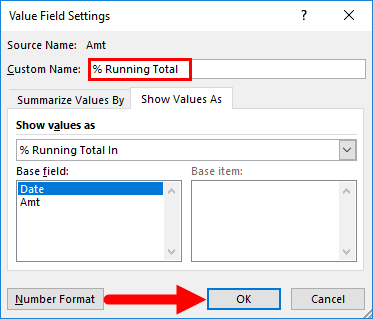 Value Field Settings