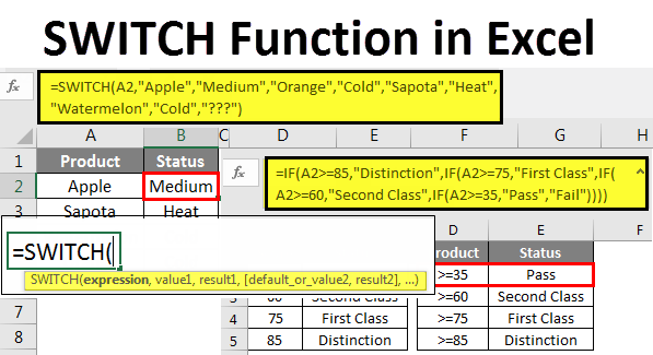 SWITCH Function example