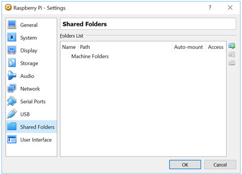 Shared folder setup