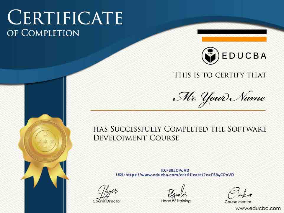 Software Development Course - Certificate