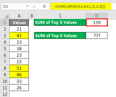 Spreadsheet Formulas in Excel example 2-2