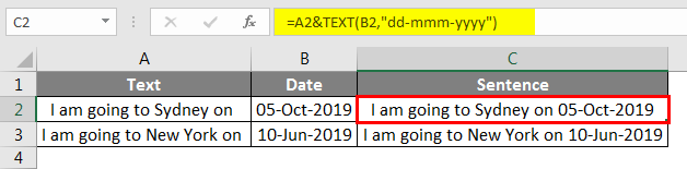 TEXT function to apply our date format