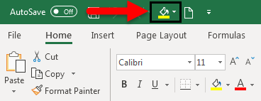 Toolbar in Excel example 2-8
