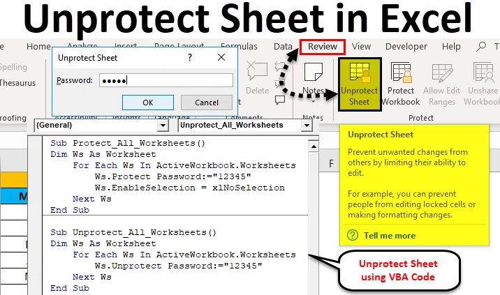 excel vba macro unprotect sheet