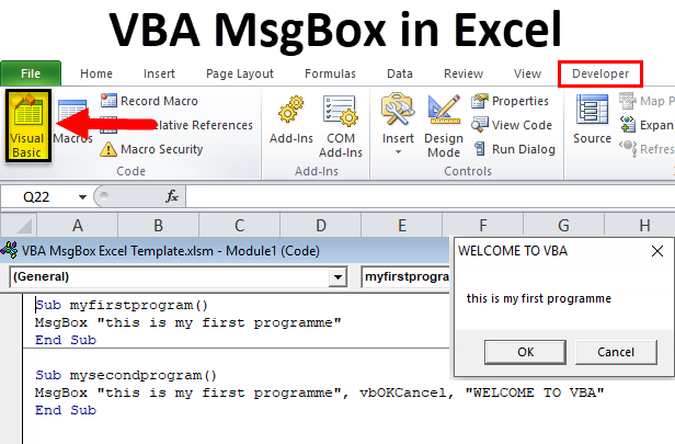 VBA MsgBox in Excel