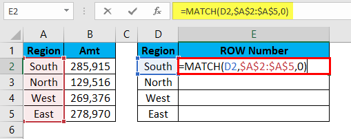 MATCH Function Example 2-4