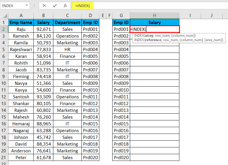VLOOKUP Alternatives Example 4-2
