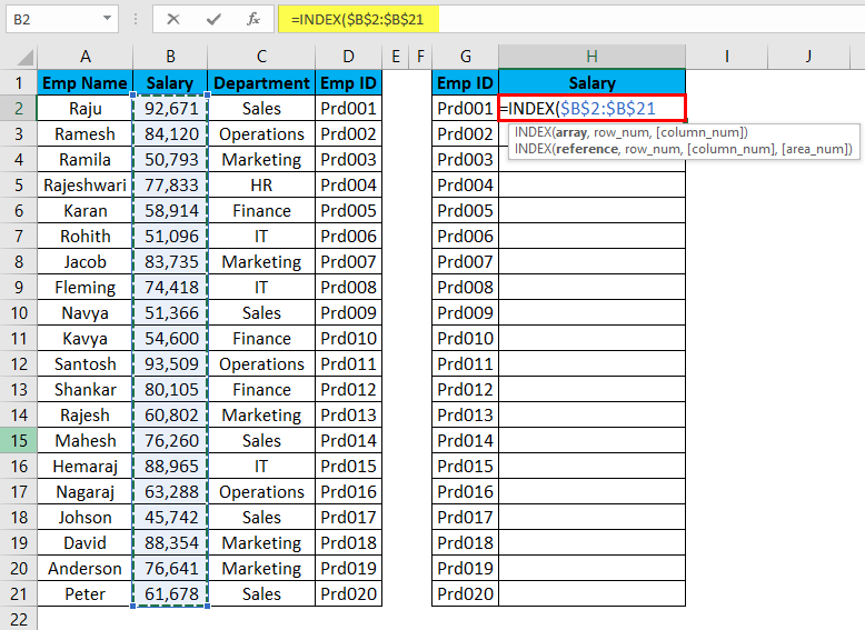 VLOOKUP Alternatives Example 4-3
