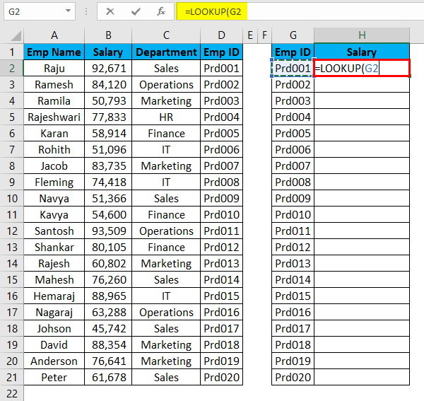VLOOKUP Alternatives Example 5-2