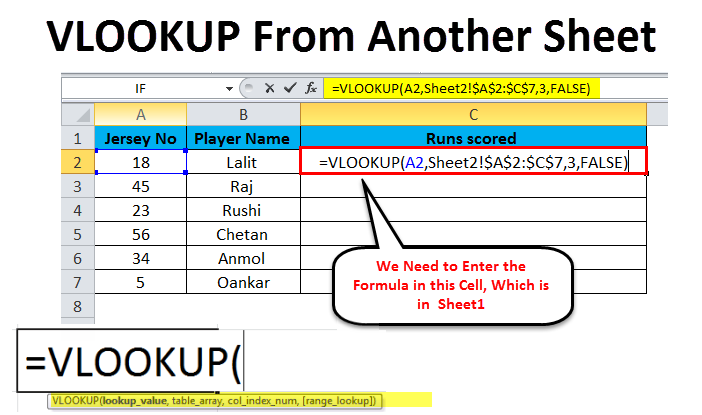 VLOOKUP From Another Sheet