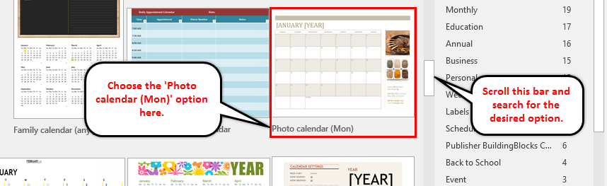 Calendar in Excel example 1-4