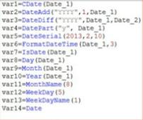 data function