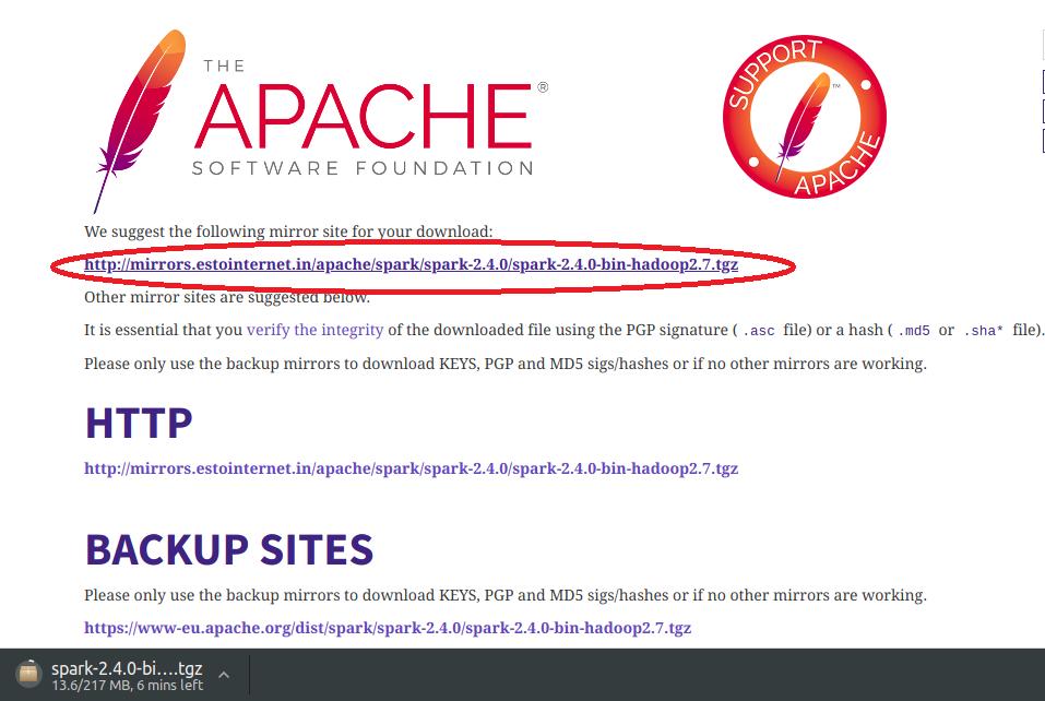 hadoop version and click
