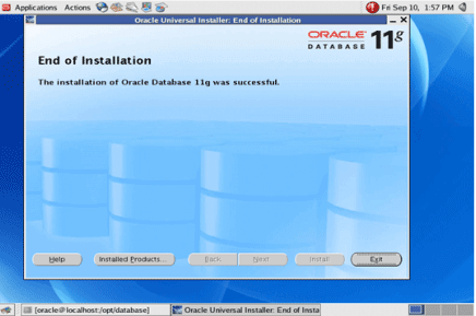 Installation of Oracle on Linux Step 16