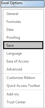 Autosave in Excel example 1-3