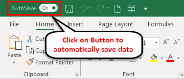 Autosave in Excel example 3-5