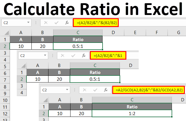 ratio in excel  examples