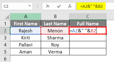 Adding Space in Formula
