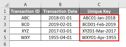 Concatenate Date Example 4-3