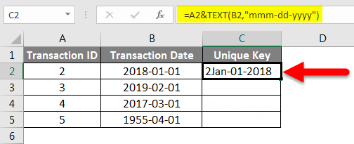 Concatenate Date Example 5-2