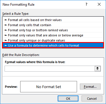 Selecting a Rule Type