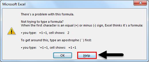 Formula Error