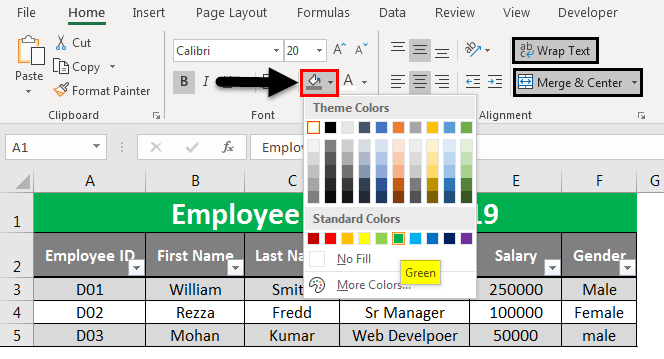 Create Excel Database 11
