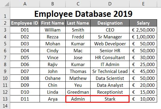 Entering Correct Data - 1
