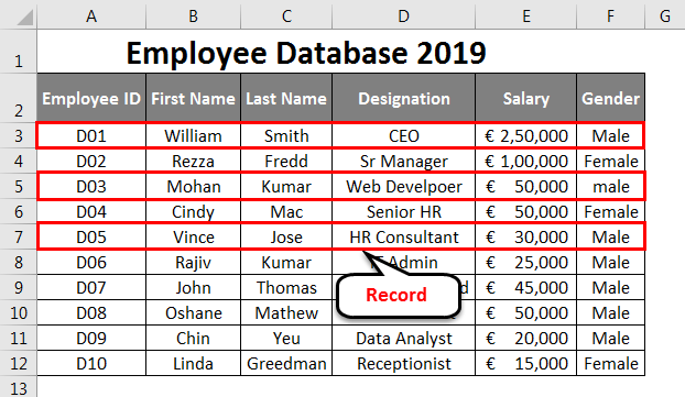 Create Excel Database 5